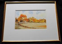 ORIGINAL DARWIN MUSSELMAN (1916-2001) WATERCOLOR