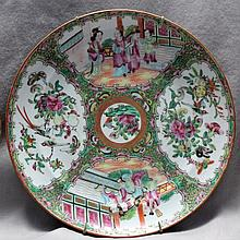 5 19th c ROSE MEDALLION PLATES