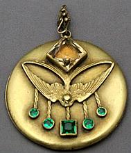 ART NOUVEAU  SWALLOW LOCKET - GEORGE STEERE
