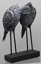 WHIMSICAL RYNE BLACKBIRDS SCULPTURE