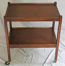 VINTAGE ENGLISH OAK TEA CART