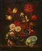 Ecole FRANCAISE du XXème siècle. «Bouquets de fleurs». Paire de toiles. 55 x 46 cm. Expert: R. MILLET. .