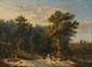 Victor CHAILLY. (Actif au XIXème siècle). «La chasse au cerf». «Le départ pour la chasse». Paire de toiles. 54 x 72,5 cm. Signés et datés en bas à gauche V. Chailly 1843. Expert: R. MILLET.