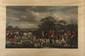Francis GRANT (d'après). «Sir Richard SUTTON and the quorn hounds». Gravure couleur. (qq rousseurs dans les marges). 108 x 70 cm