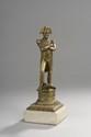 «Napoléon pensif». Deux bronzes à patine médaille. H. 9 - L. 12 cm. Epoque XIXème