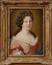 Pierre Gobert (1662 - 1744) (attribué à). «jeune femme de qualité en buste». Toile. 34 x 26 cm. /3