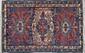 DJIWA (Caucase, région de Daghestan). Fin du 19ème siècle.. A décor géométrique de dragons stylisés formant trois médaillons sur contre fond bleu nattier.. 132x090cm