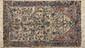 Fin CACHEMIRE en soie, (Inde), forme prière.. A arbre de vie fleuri sur fond ivoire. 150X090cm