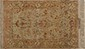 Fin ISPAHAN (Iran). Signé. Forme prière.. Chaînes et trames en soie, (Epoque du Shah), vers 1975.. Sur fond beige à vase fleuri.. 170x112cm