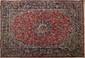 Important ISPAHAN (Iran). Fond rubis à décor floral. 420X305cm
