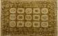 KOTAN (Inde), à décor géométrique et motifs floraux, 330x245cm
