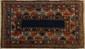 Rare KAZAK-BORCHALOU (Caucase), fin 19ème siècle.. Champ bleu nuit uni à large bordure à pyramides (symbole de l'éternité), (bel état). 190x120cm