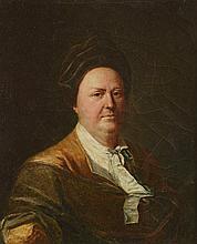 *Ecole Française fin XVIIIème. Portrait présumé de Diderot. Toile. 24.5 x 20.5 cm