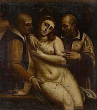 «Suzanne et les vieillards». 118 x 106 cm