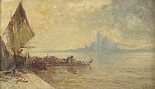 G Rodier. «le Bosphore». Toile signée en bas à droite. 27 x 46 cm