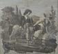 Ecole Française XIXème. «le petit cavalier et la chèvre bien  aimée». Paire de grisailles. Papier marouflé sur toile. (petits acc). 72 x 79 cm. /15