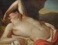 Ecole Française fin XVIIIème, suiveur de Jean Baptiste Marie PIERRE. «homme dénudé». 80 x 100 cm. Expert: R. MILLET
