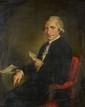 Ecole anglaise. «homme de qualité lisant». Toile ovale mise au rectangle. 81 x 65 cm. /24