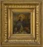 Ecole FLORENTINE vers 1500. «Saint Antoine de Padoue». Cuivre. 13 x 11,5 cm. Expert: R. MILLET