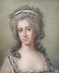 Ecole FRANCAISE vers 1900 dans le goût d'Elisabeth VIGEE LEBRUN. «Portrait de femme». Pastel. 60 x 48 cm. Expert: R. MILLET.