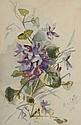 ALBOURG (XIX-XX). Bouquet de roses . Paire d'aquarelles, signée et datée 1900. . 45 x 30 cm