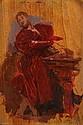 Ernest MEISSONIER (1815-1891). Portrait d'homme . Huile sur panneau, signé du monogramme en bas à droite, porte le cachet de la vente au dos. 19,9 x 13,6 cm