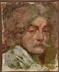 Raffaele RAGIONE (1851-1919). Autoportrait Huile sur toile, signée et dédicacée en bas à gauche . 27 x 22 cm