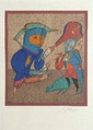 CHEMIAKINE Personnages, lithographie en couleurs signée et justifiée 10/75 au crayon hors planche, cachet sec de l'éditeur 47 x 41 cm