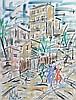 GEN PAUL (1895-1975).   Paris.   Gouache sur papier, signé en bas à gauche.   62,5 x 48 cm .