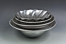 A Set of Silver Dishes