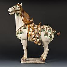 Tricolor-glazed pottery Horse