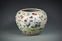Famille Rose Porcelain Pot