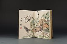 Chinese Painting Album with wood covers