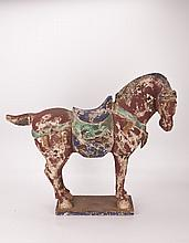 Tang Style Wooden Horse Statue