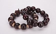 Two Huanghuali Bead Bracelets