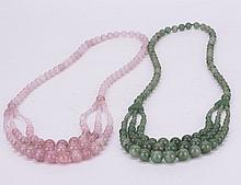 Two Natural Gemstone Necklaces