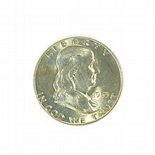 1953-D Franklin Liberty Bell Half Dollar Coin