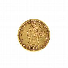 *1901-S $10 U.S. Liberty Head Gold Coin