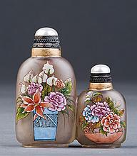 Conjoined Peking Glass Snuff Bottle
