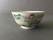 A CHINESE FAMILLIE ROSE PORCELAIN BOWL