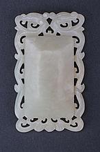 Luminous white Jade pendant