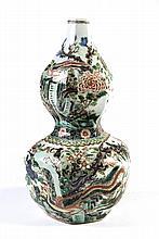 Famille Rose Porcelain Gourd Vase