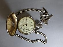 A Waltham pocket watch stamped FAHYS No.1 H3084,