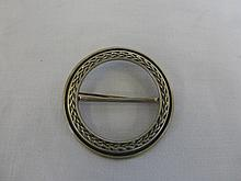 A silver Scottish scarf brooch, Edinburgh 1989.