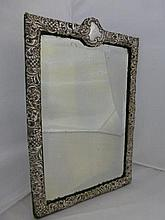 A silver framed mirror, Chester 1900.
