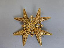 A 22ct gold Maltese filigree brooch.