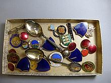 An assortment of early 20th Century enamel and