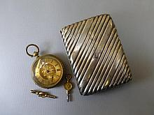 A rolled gold cased gentleman's pocket watch and a
