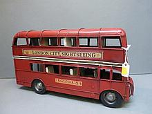 A reproduction model of a double decker London