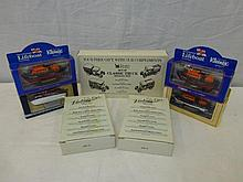 An assortment of die-cast models.